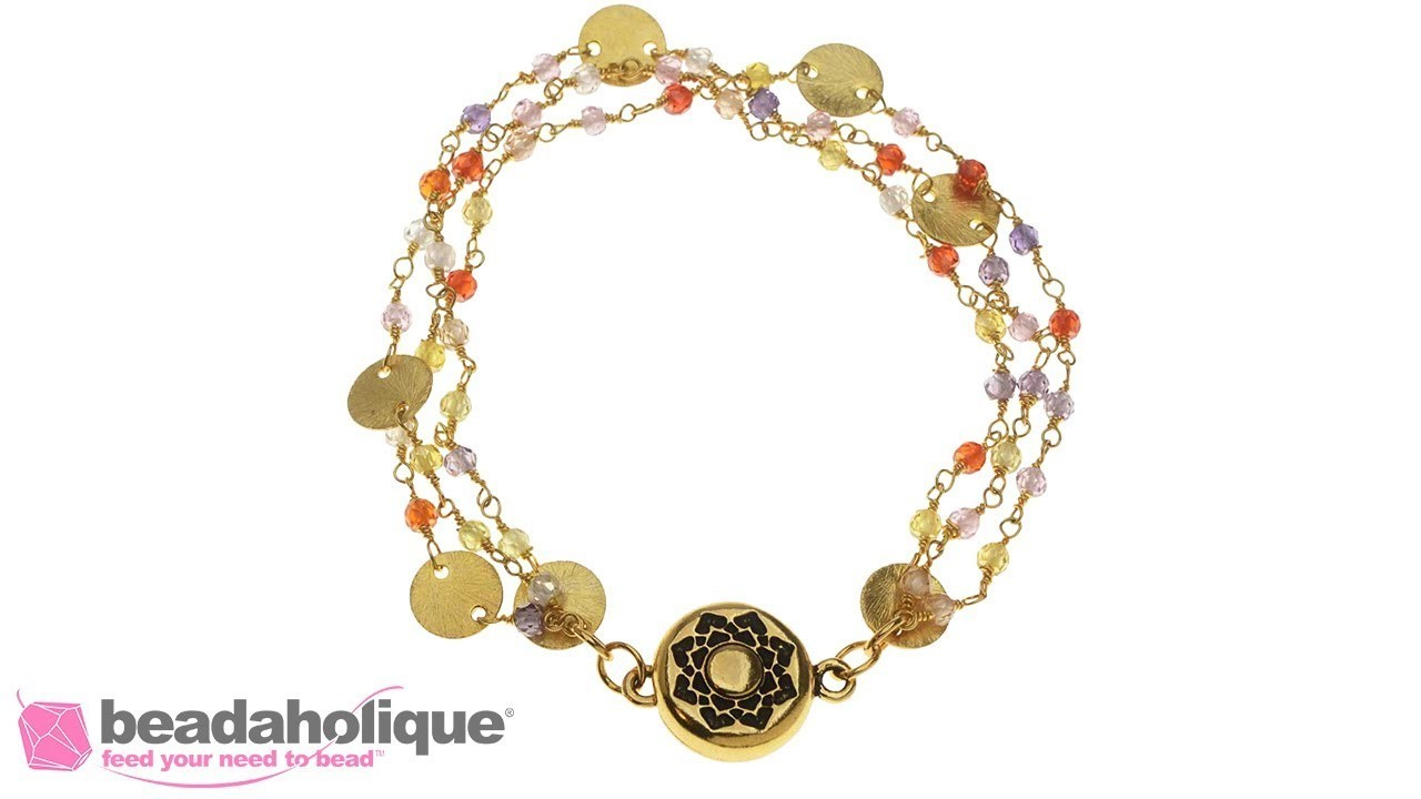 How to Make a Gemstone Chain Bracelet with a Magnetic Clasp