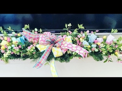 How to make a simple EasterMantlerpiece perfect forSpring and Easter