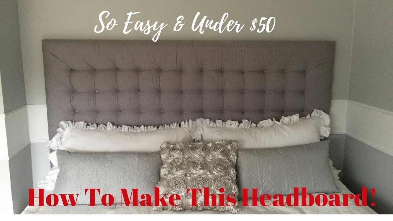 How To Make A TUFTED HEADBOARD!
