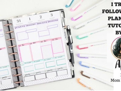 I Tried Following a PLANNER TUTORIAL By @MomRunCraft! | At Home With Quita