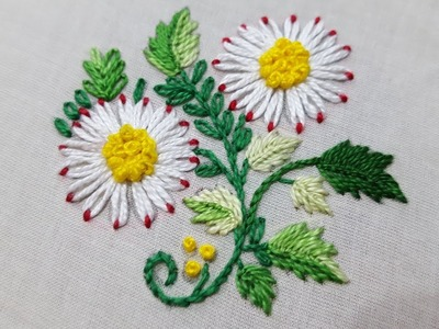 Lazy Daisy Stitch:Hand embroidery:for beginners