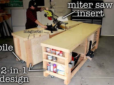 Super Simple Mobile & Modular Workbench