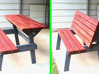 Table Bench Outdoor Furniture. Woodworking How to