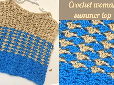 Crochet easy summer top(large size) - Tamil version(all sizes)