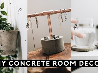 DIY CONCRETE ROOM DECOR for $1 (Tumblr Inspired + SUPER EASY). Lone Fox