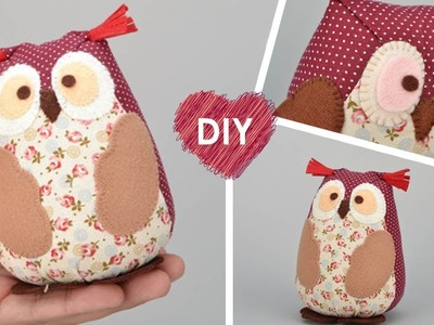 DIY. How to sew an owl. Free pattern