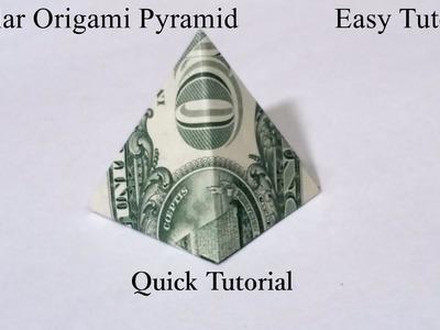 Dollar Origami Pyramid Quick Tutorial. How to fold a Dollar Origami Pyramid