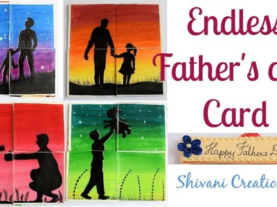 Endless Card for Father's Day. DIY Never Ending Card