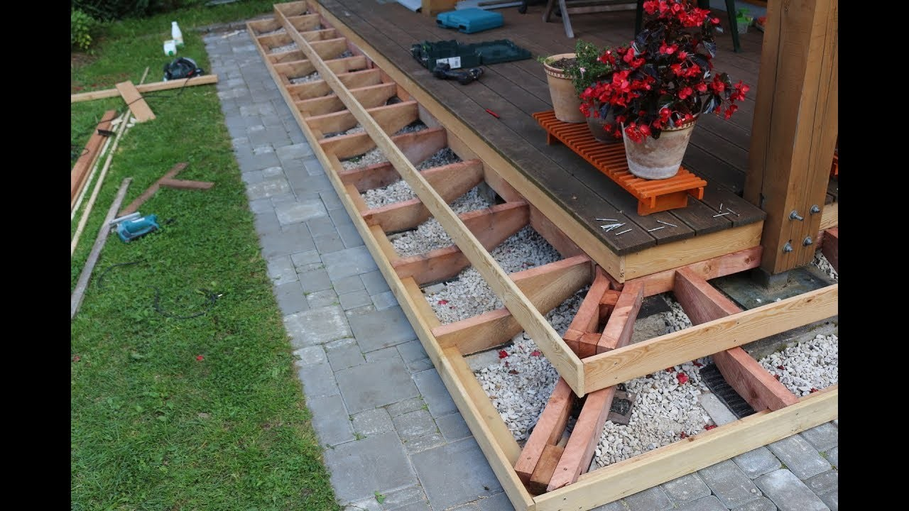 How to build deck stairs ( Part 3)