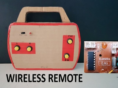 How to make WIRELESS  Remote control with cardboard || DIY || Electric toy cars remote
