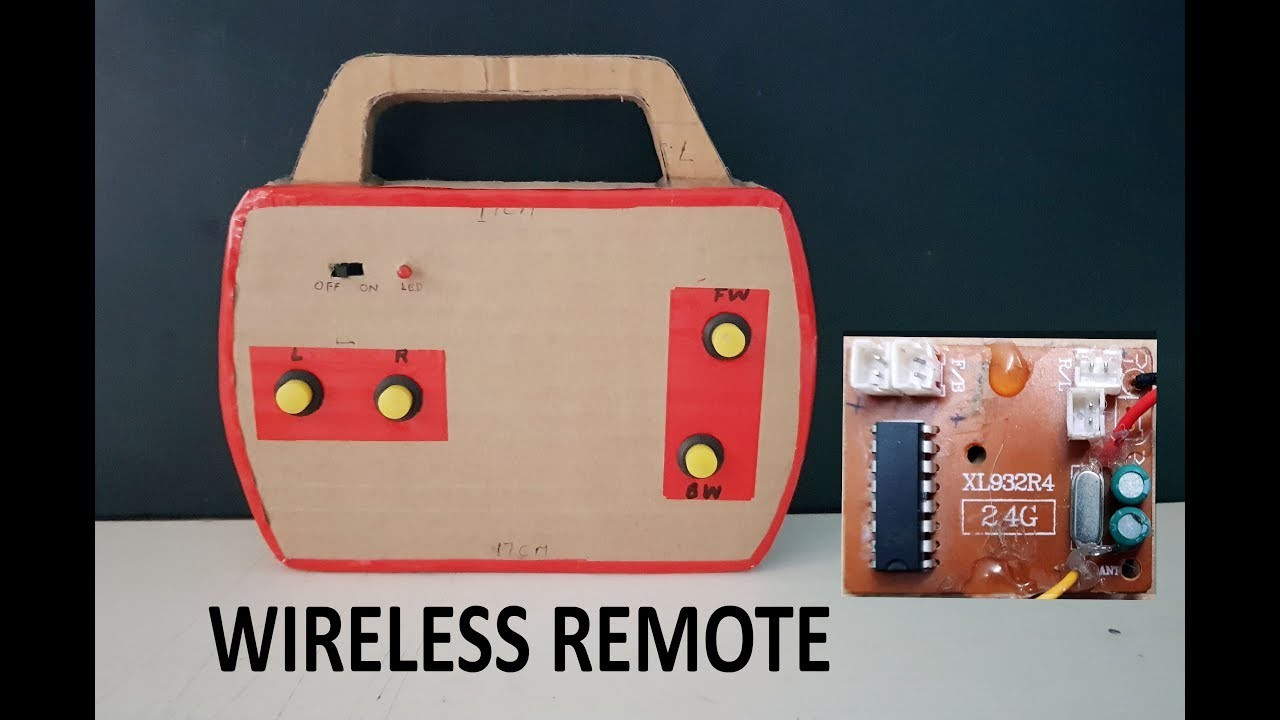 How to make WIRELESS  Remote control with cardboard    DIY    Electric toy cars remote