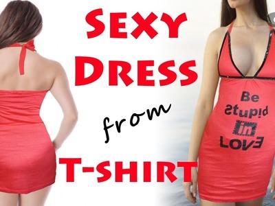 Make a SEXY DRESS out of a T-Shirt