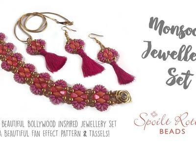 Monsoon jewellery set - SuperDuos, GemDuos and Nibbit Beads