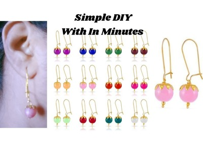 Simple and easy making | Earrings with in minutes