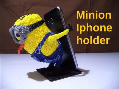 3D Pen tutorial: how to make Minion Android.IPhone holder in 2 hours | made with 3D pen