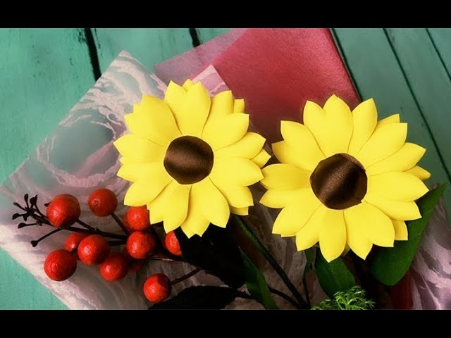 ABC TV | How To Make Sunflower Paper Flower With Shape Punch - Craft Tutorial