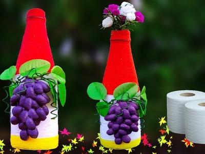 Best Out Of Waste Plastic Bottle Flower Vase || Plastic Bottle Craft Idea