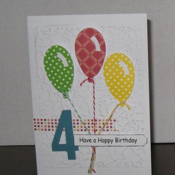 Birthday card  4 year old        TF197K