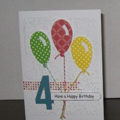 Birthday card  4 year old        TF197K