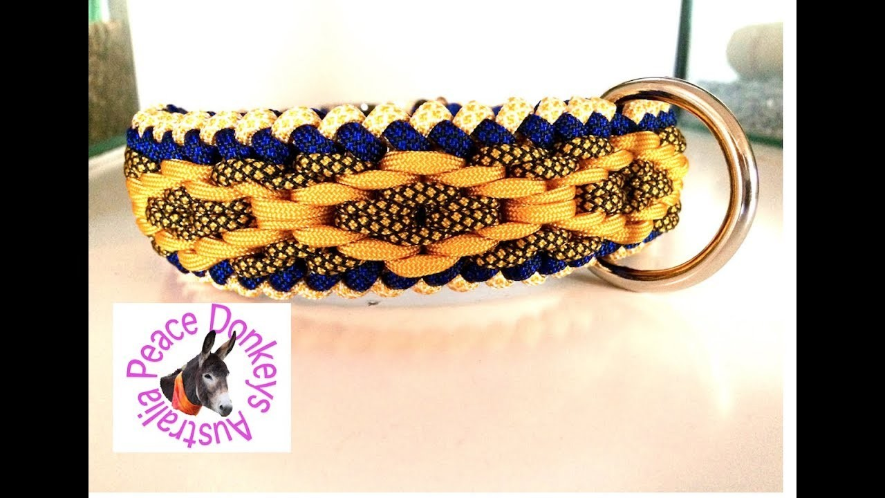 Diamond Pattern Modified Sanctified Paracord Dog Collar Instructions
