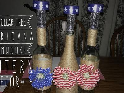 DIY Dollar Tree Americana Farmhouse Lantern Decor