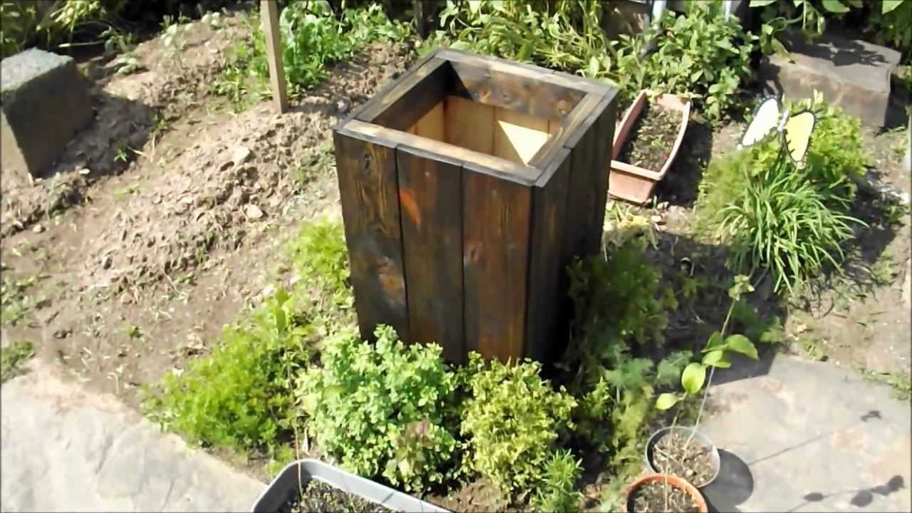 DIY How To Make A Free Wood Planter Box From Reclaimed. Recycled Wood, Easy.