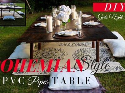 DIY |  How to make an EASY & AFFORDABLE  BOHEMIAN STYLE TABLE 2018 | DIY Bohemian Party