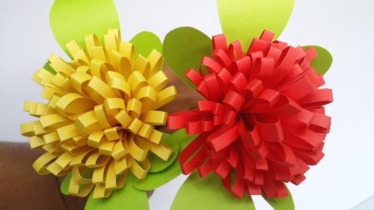 Diy Paper Flower How To Make Easy Simple Paper Flowereasy