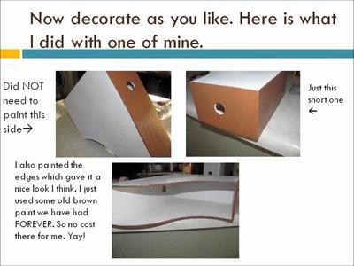 DIY Shelf from Magazine Holder