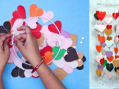 DIY Wall Hanging For Home Decor | Hanging Paper Heart | Handmade Decoration idea
