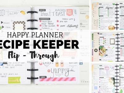 HAPPY PLANNER Recipe Keeper Flip-Through! All The Yummy Recipes! | At Home With Quita