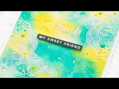 How To Create a Watercolor Background using Tim Holtz Distress Inks