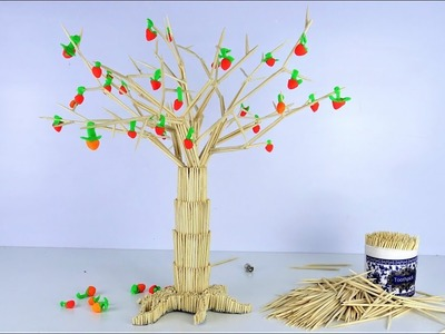 How to Make Amazing Tree from Toothpicks With Glue