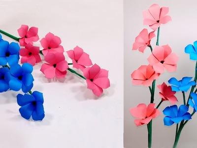 How to Make Beautiful Paper Stick Flower! Pretty Handcraft Stick Flower! Jarine's Crafty Creation