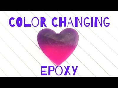 How to make color changing epoxy resin charms