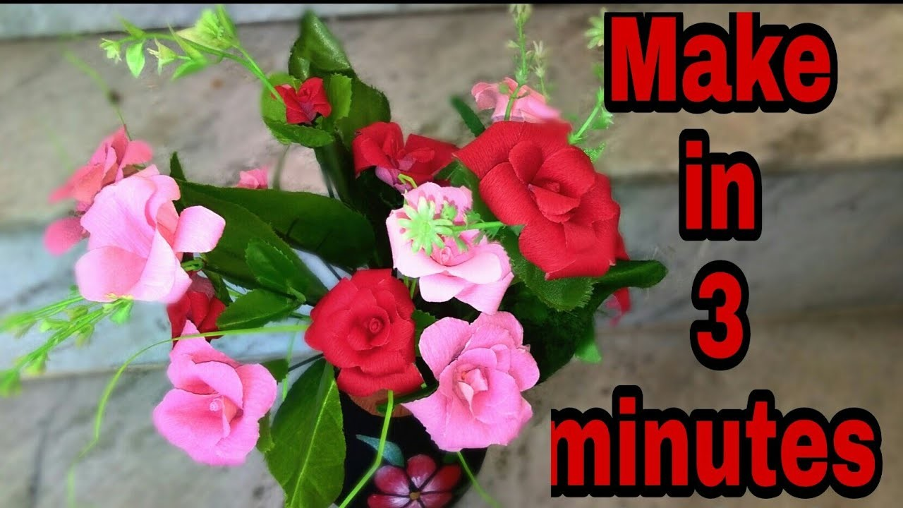 How to make flowers, 5-minute craft