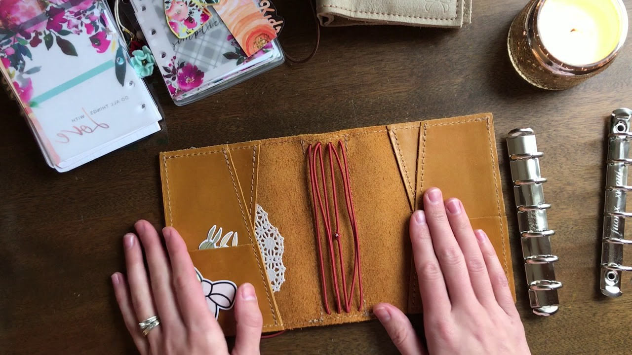 How to put rings in a Traveler's Notebook