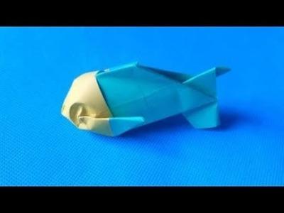 Origami Big Eyes Fish ????, Origami Tutorial Seri