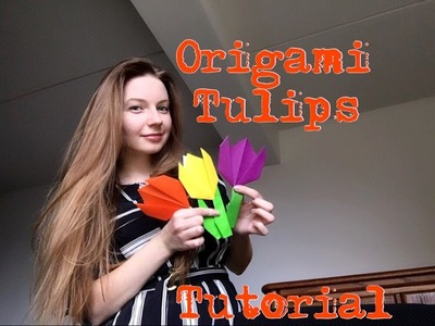 Origami tulip. Easy origami tulips flower step by step instructions. Origami for kids