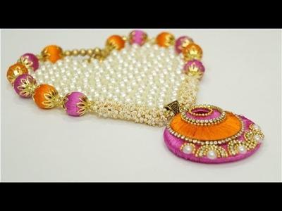 Silk Thread Designer Long Necklace - Diwali Special ( Eng Sub)