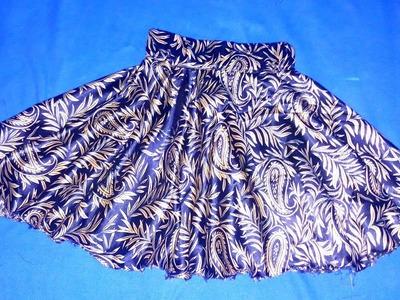 Baby circle skirt cutting and stitching