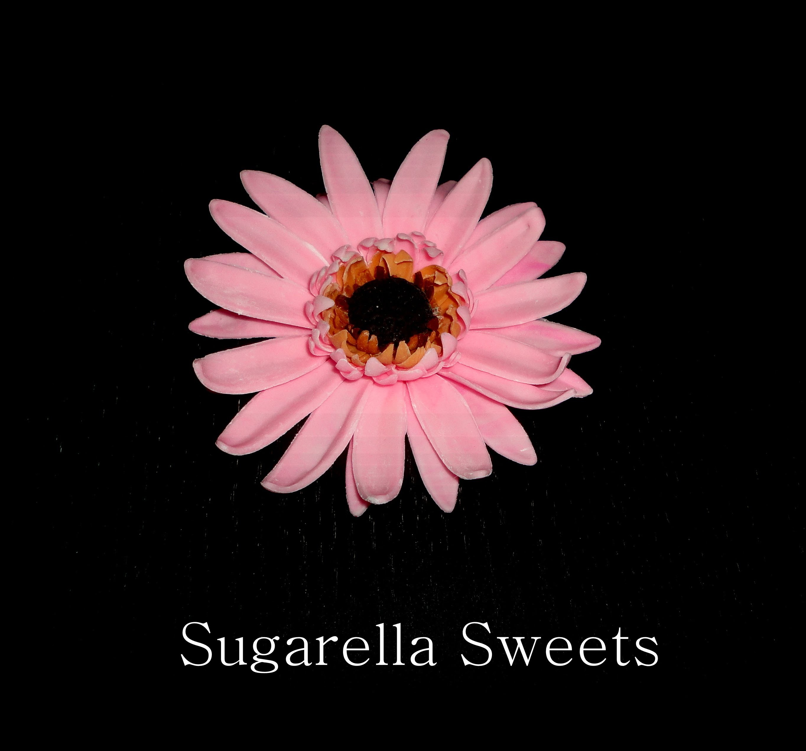Cake decorating | how to make a sugar flower gerbera | Sugarella sweets