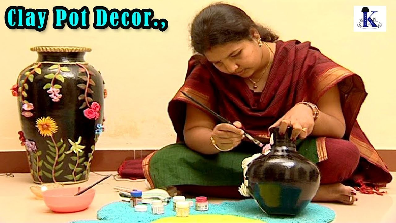 Clay pot paintings and Designs