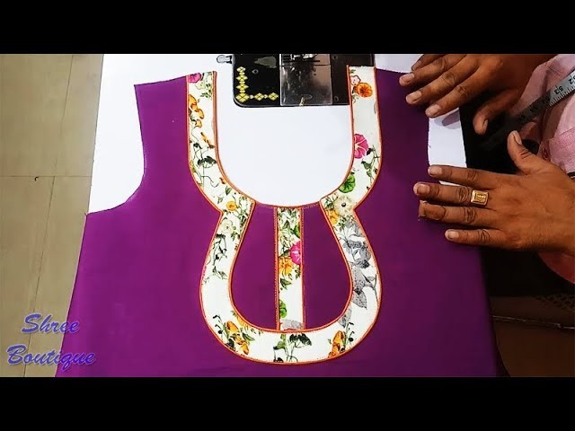 Diy Designer Neckline With Dori Piping Piping Neck Design Tutorial