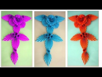 DIY Paper Flower Wall Hanging Decoration Idea. How to Make Most Beautiful Paper Flower Hanging 26