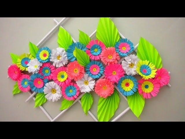 Diy Simple Home Decor Wall Decoration Hanging Flower Paper Craft