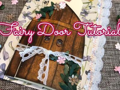 Fairy door tutorial. junk journal page idea | I'm A Cool Mom