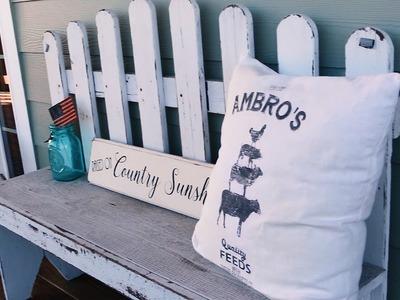 Farmhouse Summer Porch   Outdoor DIY & Decor Challenge  