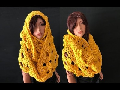How to Crochet Chunky Infinity Scarf Pattern #737│by ThePatternFamily
