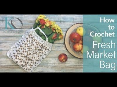 How to Crochet Fresh Market Crochet Bag Easy Beginner Handmade Eco Friendly Gift